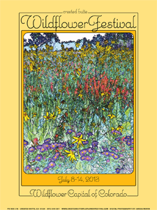 Crested Butte 2013 Wildflower Festival Poster and Merchandise