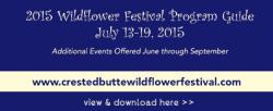 wildflower festival program guide crested butte