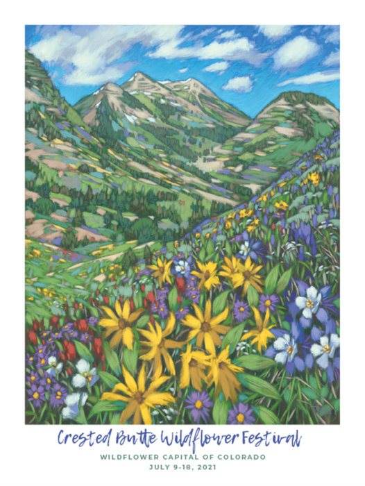 2021 Crested Butte Wildflower Festival Poster